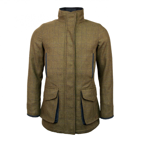 Musto Womens Light Machine Washable Goretex Tweed Jacket Seafield Green
