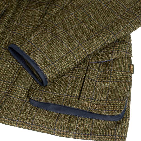 Musto Womens Light Machine Washable Goretex Tweed Jacket Seafield Green