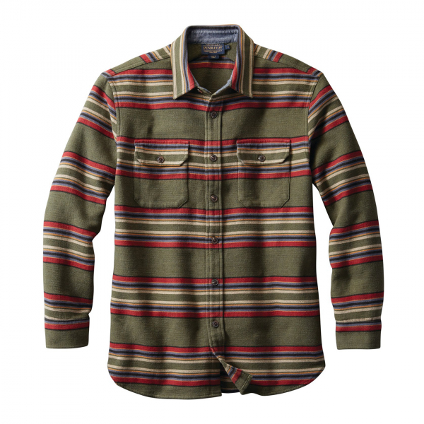 Pendleton Beach Shirt Green Heather Stripe