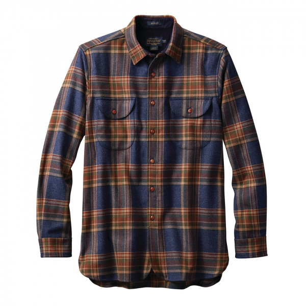 Pendleton Buckley Fitted Shirt Navy Twill Plaid