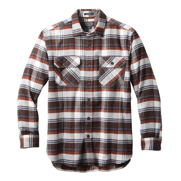 Pendleton Burnside Flannel Shirt Red / Brown / Navy Plaid