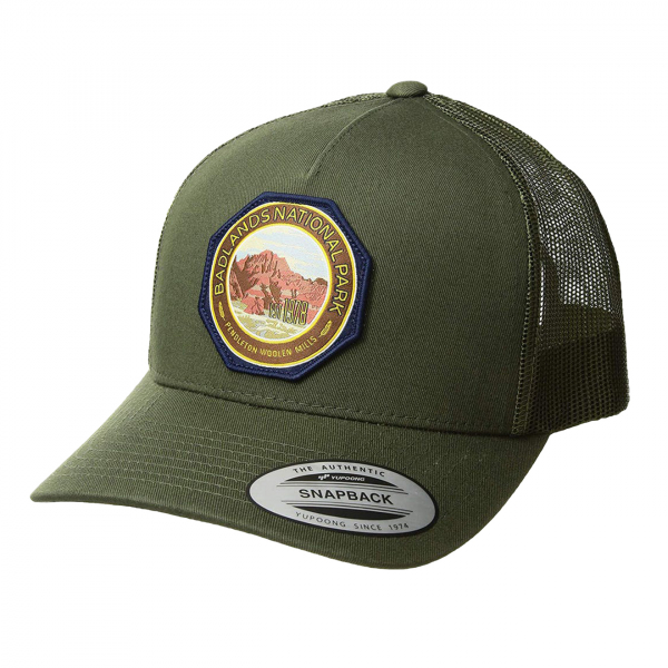 Pendleton National Park Patch Trucker Cap Army