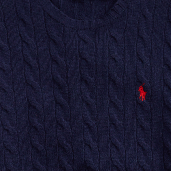 Polo Ralph Lauren Cable Knit Jumper Blue