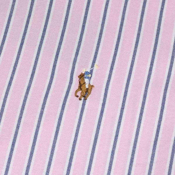 Polo Ralph Lauren Classic Fit Oxford Stripe Shirt Pink / Grey