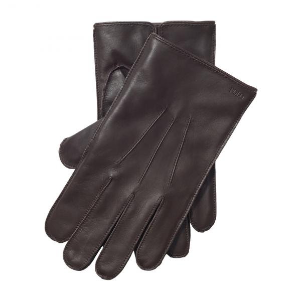 Polo Ralph Lauren Classic Nappa Leather Glove Brown