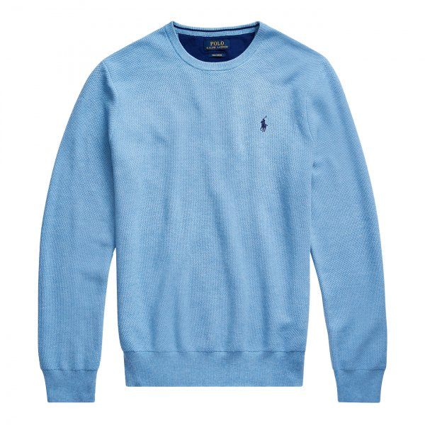 Polo Ralph Lauren Cotton Crewneck Sweat Blue