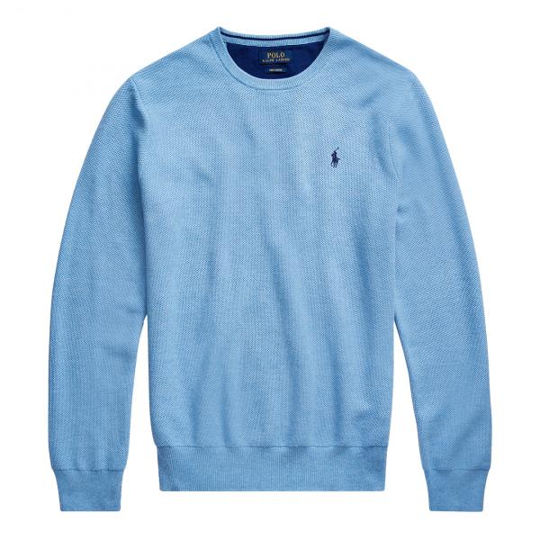 Polo Ralph Lauren Cotton Crewneck Sweat Blue