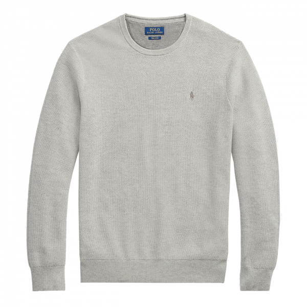 Polo Ralph Lauren Cotton Crewneck Sweat Grey Heather