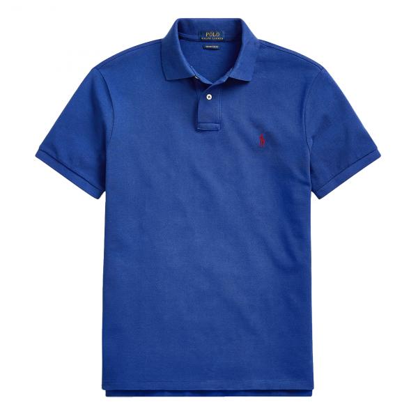 Polo Ralph Lauren Custom Slim Fit Polo Blue