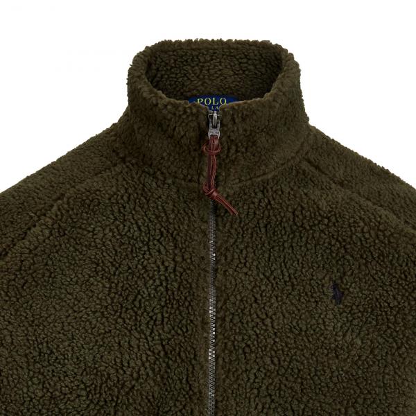 Polo Ralph Lauren Fleece Track Jacket Olive