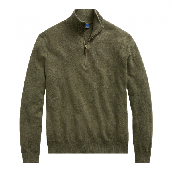 Polo Ralph Lauren Half Zip Merino Jumper Green