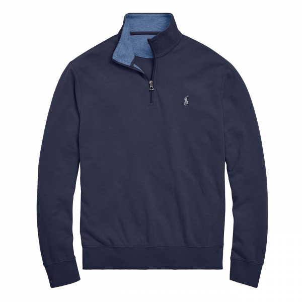 Polo Ralph Lauren Jersey Half Zip Pullover Aviator Navy