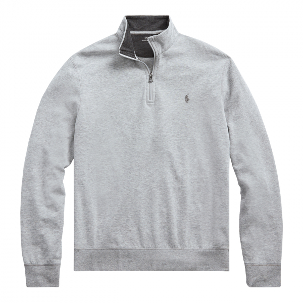 Polo Ralph Lauren Jersey Half Zip Pullover Grey Heather