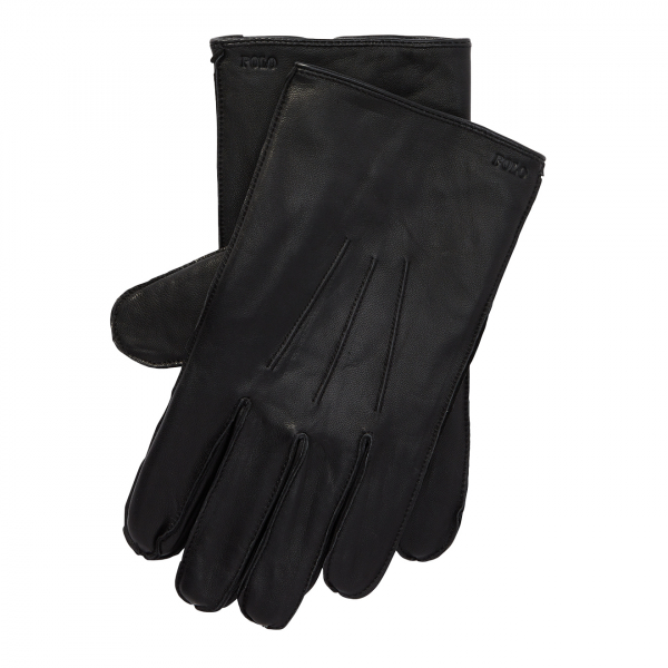 Polo Ralph Lauren Nappa Leather Sheepskin Touch Gloves Black