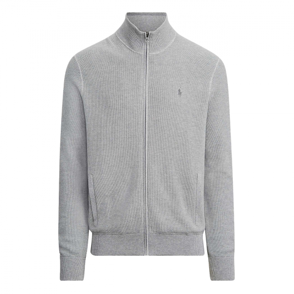Polo Ralph Lauren Pima Cotton Full Zip Sweat Grey Heather