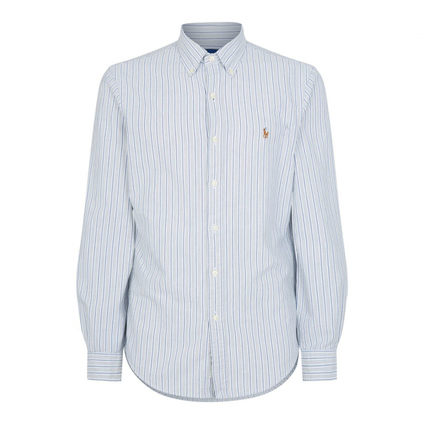Polo Ralph Lauren Slim Fit Oxford Shirt Sky / Grey