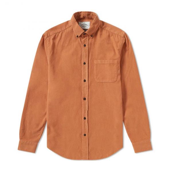 Portuguese Flannel Lobo Needle Cord Shirt Brick