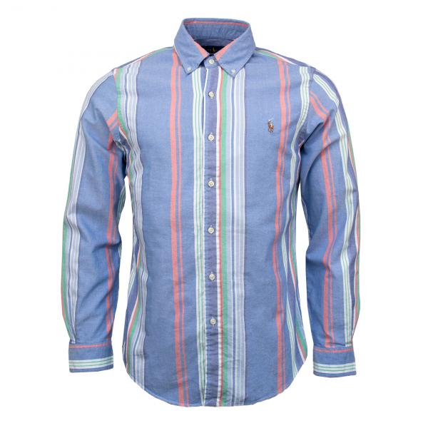 Polo Ralph Lauren Slim Fit Oxford Shirt Sky / Off White