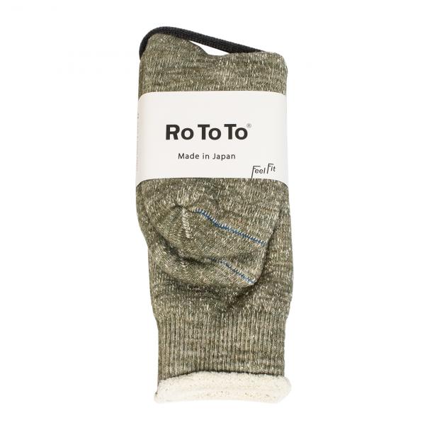 RoToTo Double Face Socks Army Green