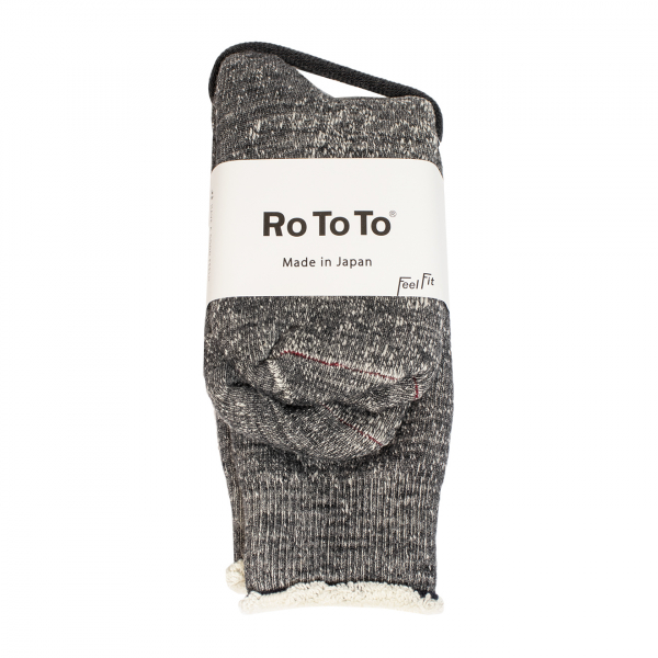 RoToTo Double Face Socks Charcoal