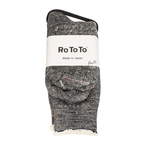RoToTo Double Face Socks Charcoal
