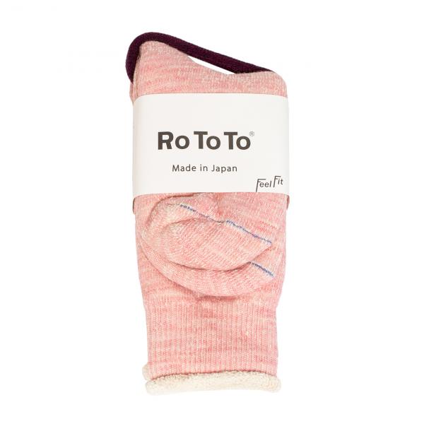 RoToTo Double Face Socks Light Pink