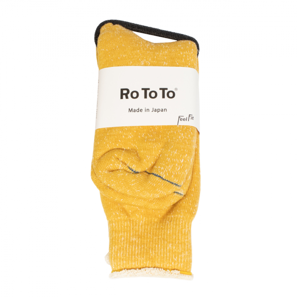 RoToTo Double Face Socks Yellow