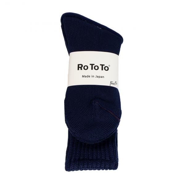 RoToTo Loose Pile Socks Navy