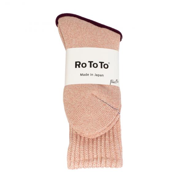 RoToTo Loose Pile Socks Pink Mix