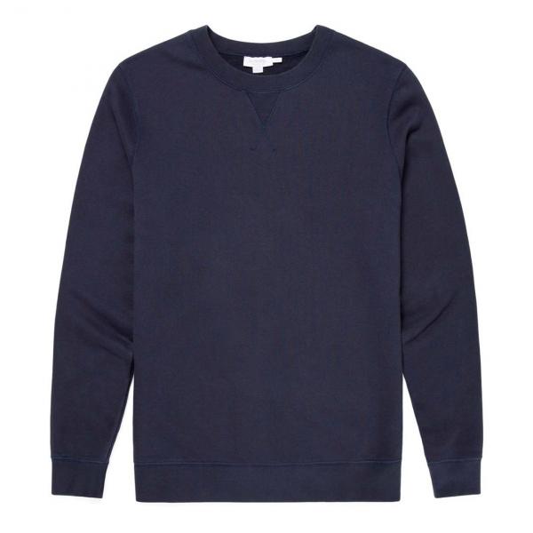 Sunspel Loopback Sweatshirt Navy