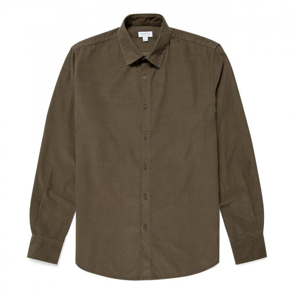 Sunspel Oxford Shirt Military Green