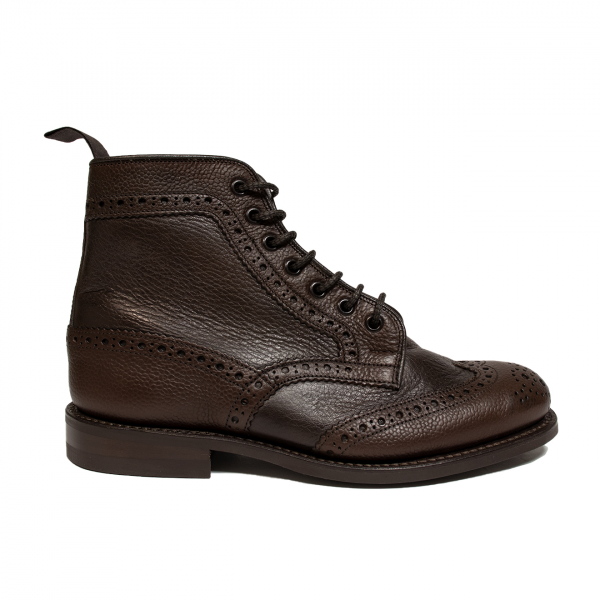 Trickers Adstone Two Tone Brogue Boot Brown Grain / Brown Olivia