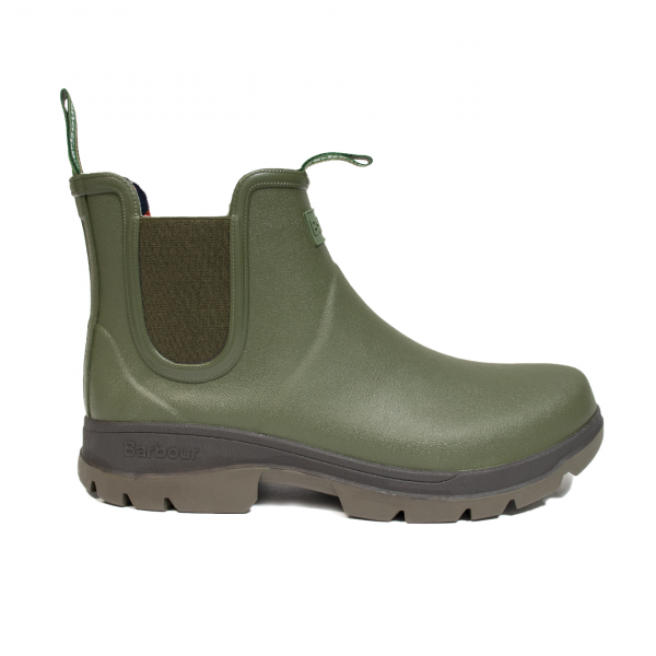 Barbour Fury Chelsea Wellington Boot Olive