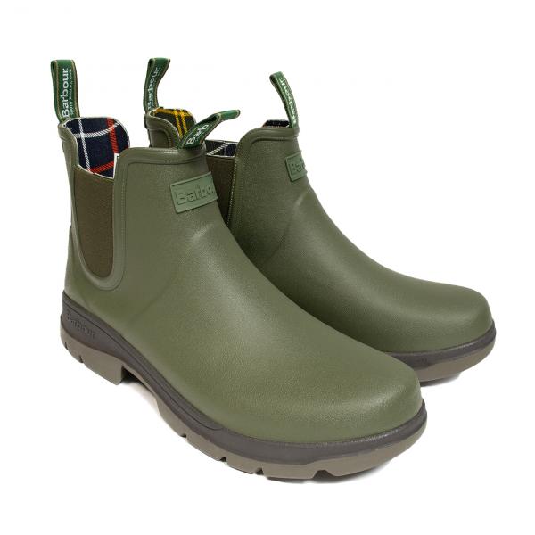 Barbour Fury Chelsea Wellington Boot Olive