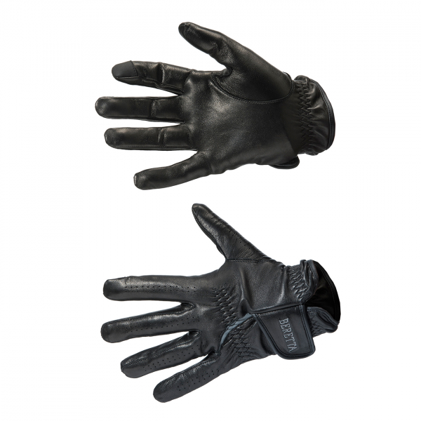 Beretta Target Leather Gloves Black / Grey