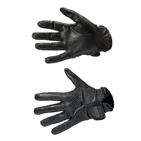 Beretta Target Leather Gloves Black / Grey