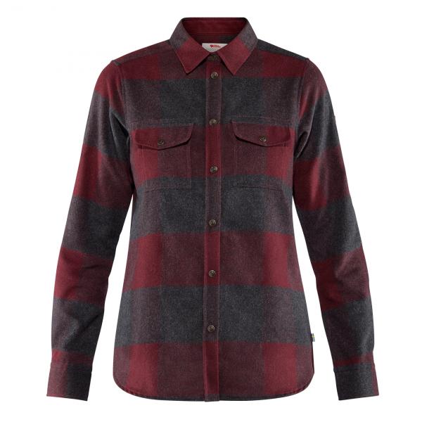 Fjallraven Womens Canada Shirt Dark Garnet