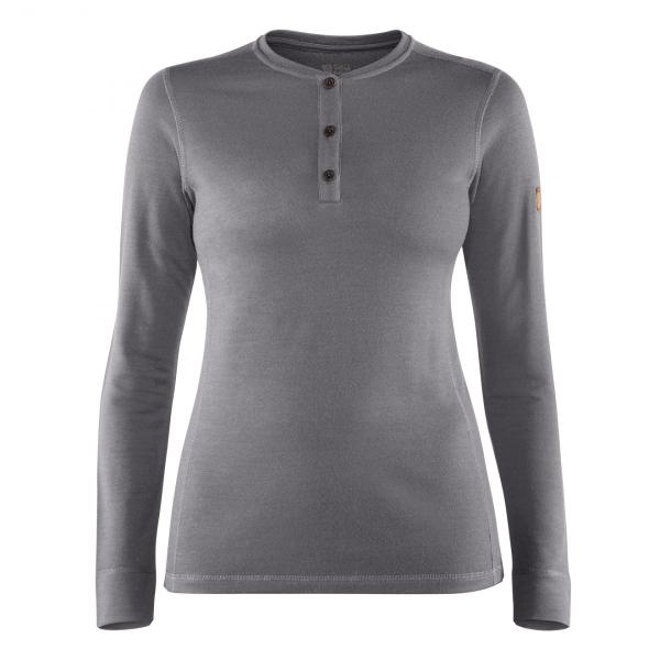 Fjallraven Womens Singi Merino Henley Knit Grey