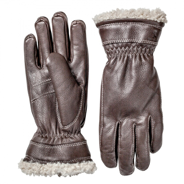 Hestra Deerskin Primaloft Glove Dark Brown