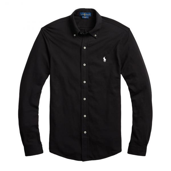 Polo Ralph Lauren Featherweight Mesh Shirt Polo Black