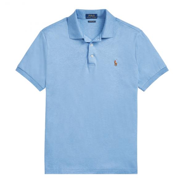 Polo Ralph Lauren Slim Fit Cotton Jersey Polo Blue