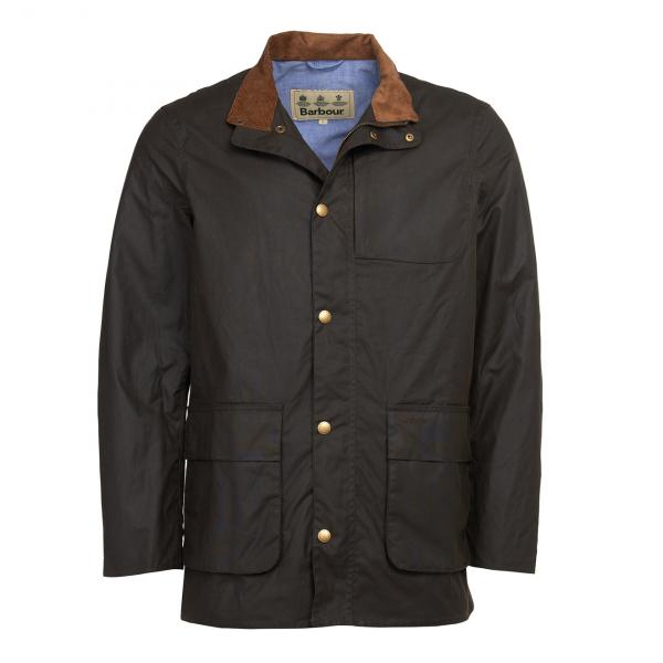 Barbour Adderton Wax Jacket Olive