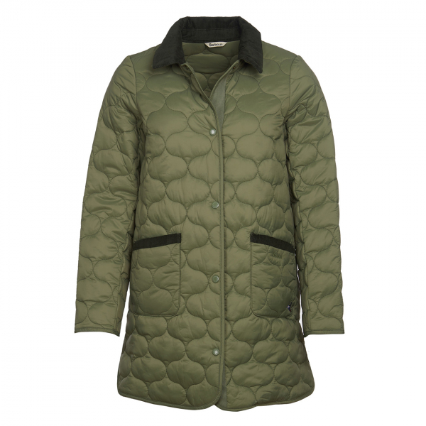 Barbour Womens Erin Quilt Jacket Bay Leaf