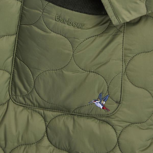 Barbour Womens Erin Quilt Jacket Bay Leaf