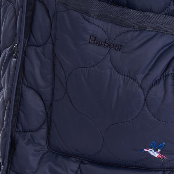 Barbour Womens Hallie Quilt Jacket Navy