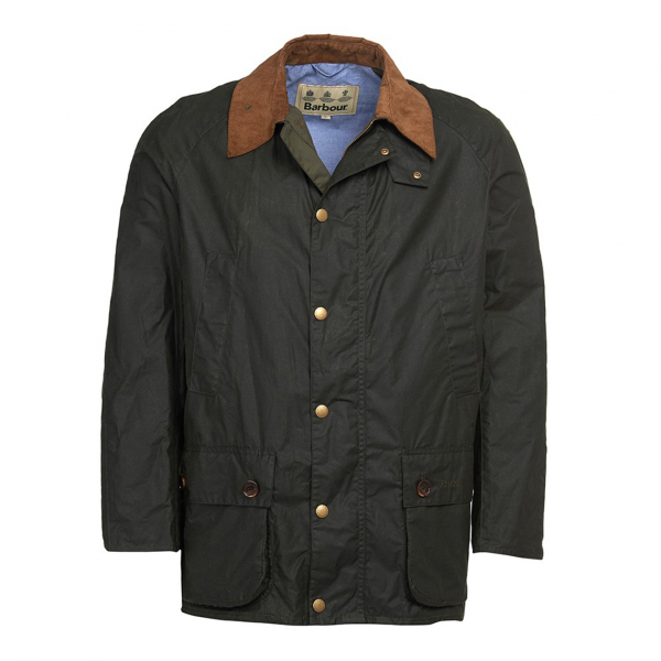 Barbour Hopsack Wax Jacket Forest