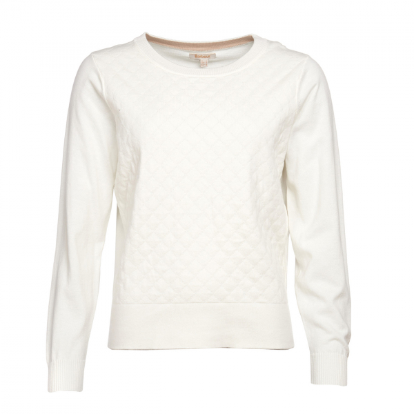 Barbour Womens Crawford Knitwear Off White