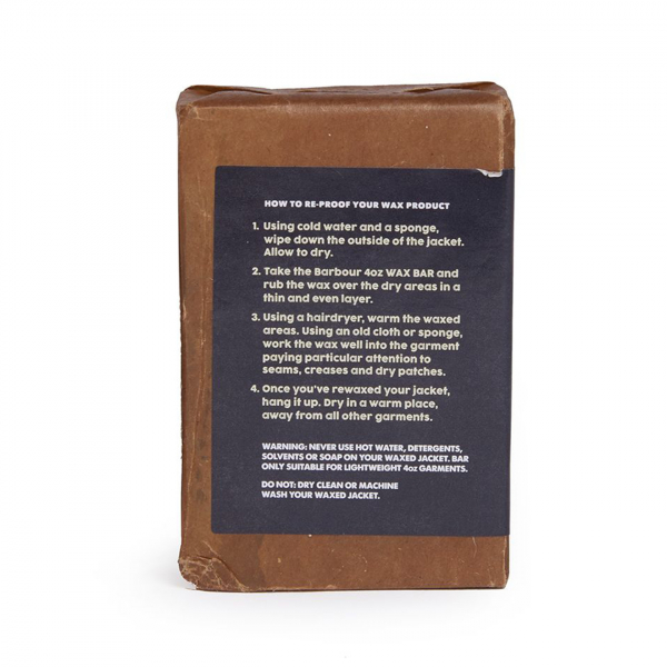 Barbour Lightweight Jacket Wax Bar Usage Instructions
