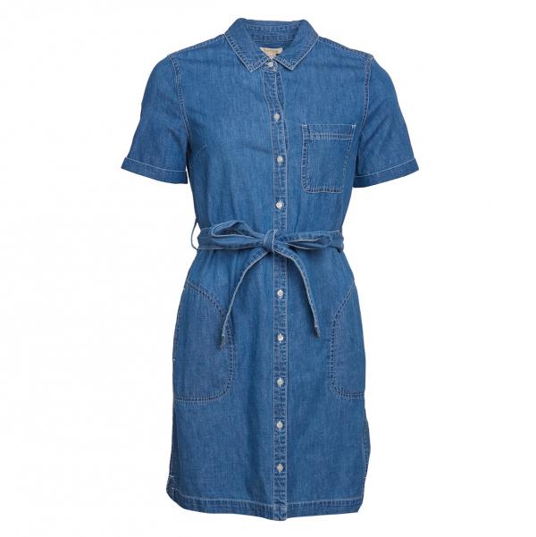 Barbour Seaboard Denim Dress Mid Wash