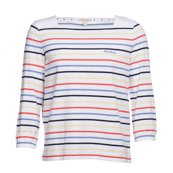 Barbour Womens Seaview Top White Stripe